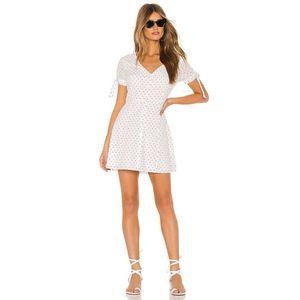 AMUSE SOCIETY Dreamboat Polka Dot Button Dress